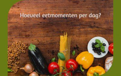 Hoeveel eetmomenten per dag