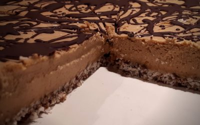 Kokos Pompoen Cheesecake met Chocolade